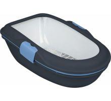 WC BERTO - dvojitá nádoba so sitom 59x39x22 cm - tm.šedá / pastel