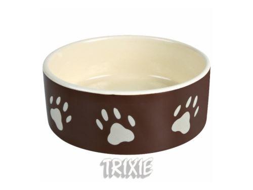 Miska keramická pes hnedá