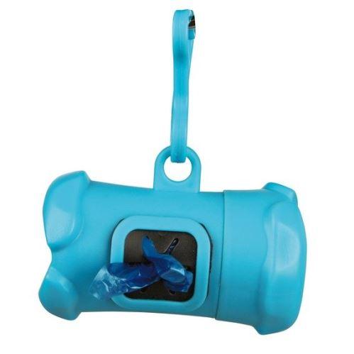 Plast.zásobník na sáčky na trus, tvar KOSŤ, vč.1 role á 15ks