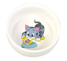 Keramická miska, maľovaná, motív mačka 300ml/11cm
