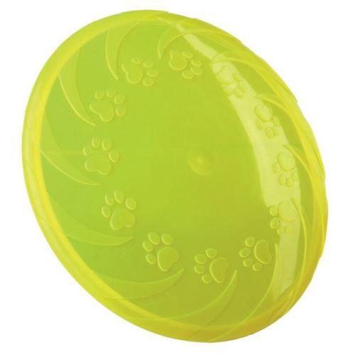 Lietajúci tanier veľký 22 cm, termoplast.guma TPR, robustný  VÝPREDAJ