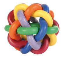 Lopta tvrdá guma uzlíková 10cm