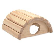 Domček SMALL ANIMAL Polkruh drevený 16,5 x 15 x 8 cm 1ks