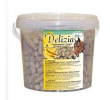 Pochúťka pre kone Delizia banán 3kg vedro