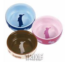 Keramická miska pre králiky farebná 250 ml / 11 cm
