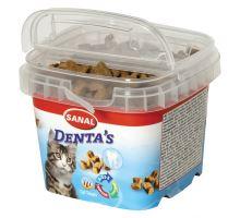 SANAL DENTA´S - snack na čištění zubů pro kočky 75 g