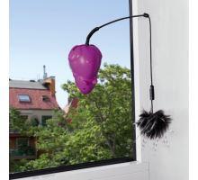 Bláznivá myš s prísavkou na okno, 3 vymeniteľné hračky 12 cm