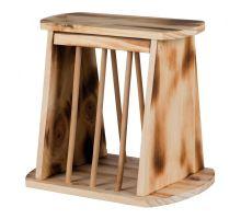 Samostatne stojaci krmítko na seno, drevené 25 x 22 x 18 cm  VÝPREDAJ