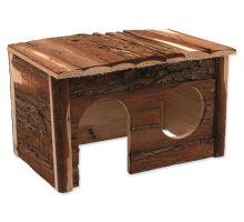 Domček SMALL ANIMAL drevený s kôrou 28 x 18 x 16 cm 1ks