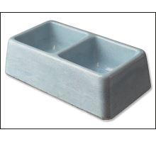 Dvojmiska betónová 2 x 0,1 l 1ks VÝPREDAJ