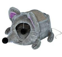 Plyšová myš LUKAS pelech s hračkou a škrabadlo 35x33x65cm