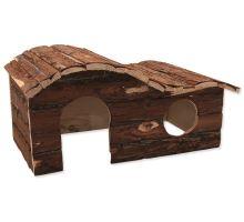 Domček SMALL ANIMAL Kaskada drevený s kôrou 43 x 28 x 22 cm 1ks