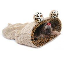 Maryse pelech 2v1 s lemom, myšiaka, béžový / leopard, veľkosť XL