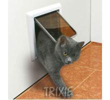 Dvierka mačka plast 4P Freecat DeLuxe Trixie Biela