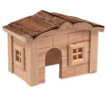 Domček SMALL ANIMAL drevený jednoposchodový 20,5 x 14,5 x 12 cm 1ks