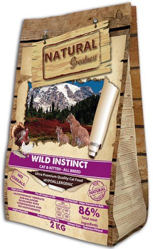 Natural Greatness Raceta Cat Wild Instinct /kuře,krůta/ 2 kg