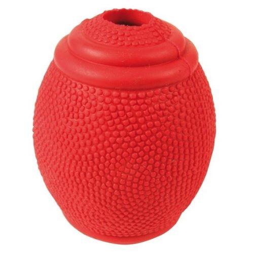Rugby lopta na pamlsky tvrdá guma 8cm VÝPREDAJ