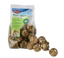 Natur Snack - guličky s jablkami a špaldou pre hlodavce 140 g