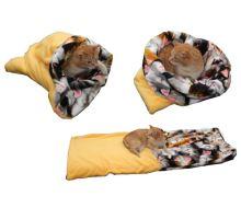 Pelíšek pro kočky XL - žlutá/kočky