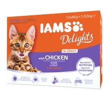 IAMS mačiatko delights chicken in gravy multipack 1020g
