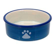 MAGIC CAT keramická miska mačacia labka modrá 12,5 cm 1ks