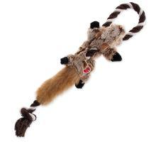 Hračka DOG FANTASY Skinneeez s povrazom líška 35 cm 1ks