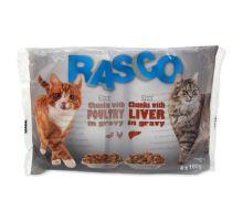 RASCO Cat Multipack s hydinou / s pečeňou 4 x 100g 400g